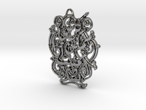 All Be Done If Wished, Pendant/Arabic in Fine Detail Polished Silver