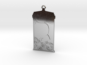 TARDIS Pendant with Five in Fine Detail Polished Silver