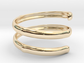 Bamboo ring(Japan 10,USA 5.5,Britain K) in 14K Yellow Gold