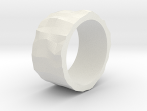 Stone age ring - size 6 US in White Natural Versatile Plastic