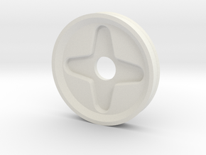 Trinket Wheel (Production Edition) in White Natural Versatile Plastic