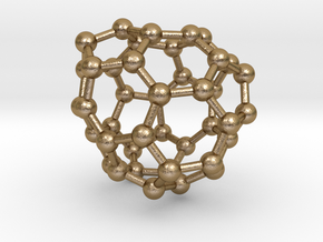 0261 Fullerene C42-40 c2 in Polished Gold Steel