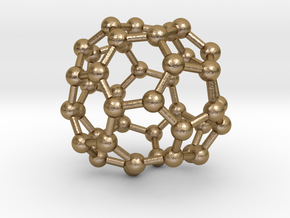 0262 Fullerene C42-41 c2 in Polished Gold Steel
