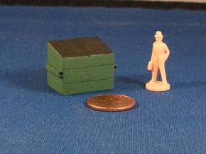 Dumpsters (x2) HO Scale in White Natural Versatile Plastic
