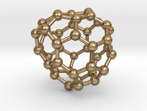 0264 Fullerene C42-43 c2 in Polished Gold Steel