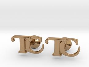 Monogram Cufflinks TC in Polished Brass