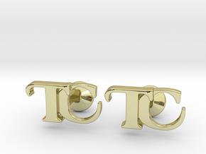 Monogram Cufflinks TC in 18k Gold Plated Brass