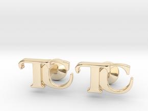 Monogram Cufflinks TC in 14K Yellow Gold