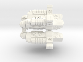 28mm Grav Guns on Sprue in White Processed Versatile Plastic
