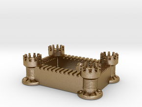 Castle in Polished Gold Steel