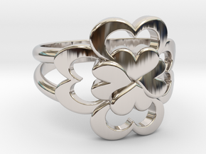 Size 10 Wife Ring  in Rhodium Plated Brass