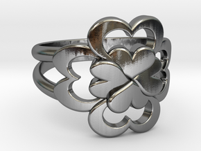 Size 10 Wife Ring  in Polished Silver