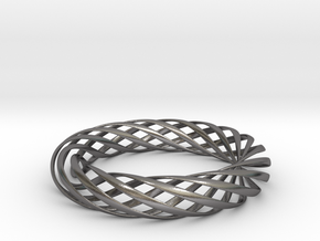 Spiral Style Bracelet  in Polished Nickel Steel
