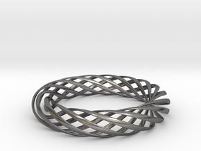 Spiral Style Bracelet  in Polished Nickel Steel