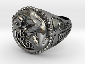 Panther Ring 11.4 in Polished Silver