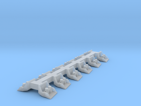 O-AJRB-12 Array of 12 adjustable Rail Braces in Smooth Fine Detail Plastic