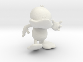 Dummy Duck Action Pose  in White Natural Versatile Plastic