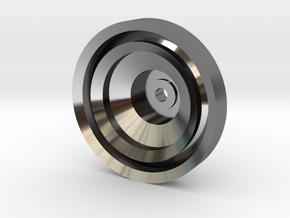 Yo-yo in Fine Detail Polished Silver