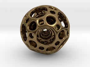 Dodecahedron Nested Sphere ( Large ) in Polished Bronze