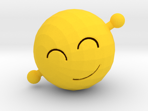 Wave Emoji in Yellow Processed Versatile Plastic