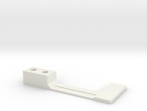 Flipper Switch Mod Bracket/Isolator (Right Side) in White Natural Versatile Plastic