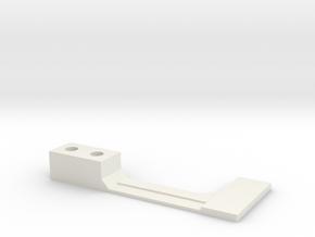 Flipper Switch Mod Bracket/Isolator (Right Side) in White Strong & Flexible