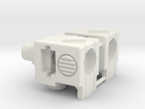 Blocky Driller's Accessory Holders in White Strong & Flexible