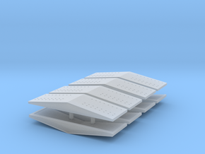 #5b  Ballast Car End Roofs in Smooth Fine Detail Plastic