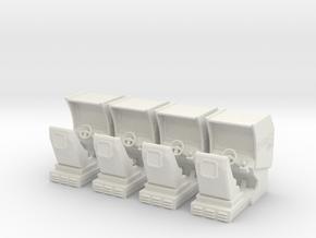 Daytona Arcade Machines (Heroic scale) in White Natural Versatile Plastic