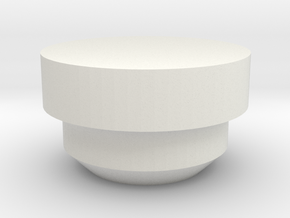 Watt Button for Lid (1590G) DNA200 in White Natural Versatile Plastic