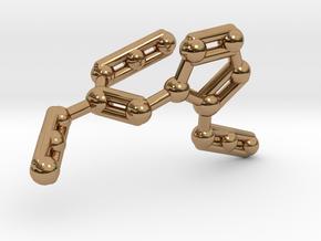 Azidoazide Azide Molecule Necklace in Polished Brass