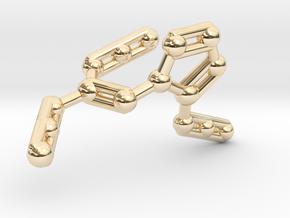 Azidoazide Azide Molecule Necklace in 14k Gold Plated