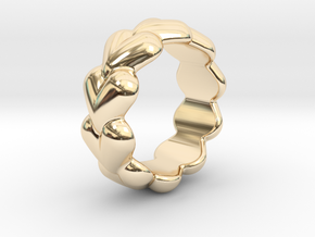 Heart Ring 30 - Italian Size 30 in 14k Gold Plated