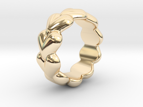 Heart Ring 32 - Italian Size 32 in 14k Gold Plated