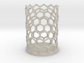 Pencilcup nanocarbon in Natural Sandstone