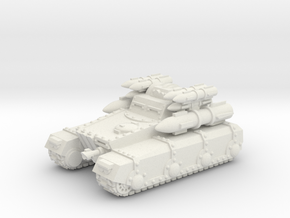 Rocket Irontank in White Natural Versatile Plastic
