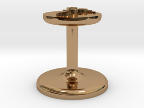 Caduceus Wax Seal (Doctor's Staff) in Polished Brass
