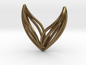 sWINGS Big, Pendant. in Polished Bronze