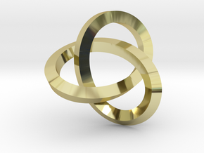 Knotted Mobius Band (Lg) in 18k Gold Plated Brass