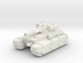 Irontank w. Medium Turret in White Natural Versatile Plastic