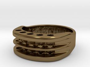 US10 Ring XVI: Tritium in Polished Bronze
