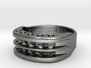 US10 Ring XVI: Tritium in Polished Silver