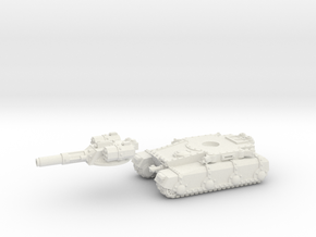 Irontank medium turret (2 piece) in White Natural Versatile Plastic