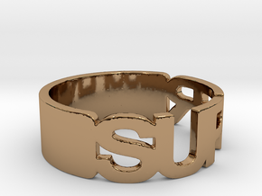 SUPER Ring Size 10.25 in Polished Brass