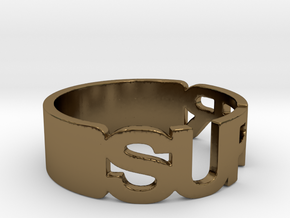 SUPER Ring Size 10.25 in Polished Bronze