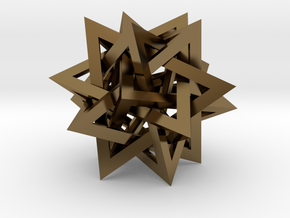 Tetrahedron 5 Compound in Polished Bronze
