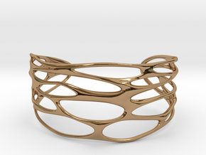Cuff 'Stretched Quaders'  in Polished Brass