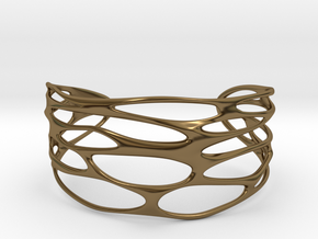 Cuff 'Stretched Quaders'  in Polished Bronze