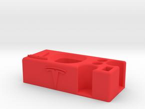 Telsa yacht floor organizer pens, flashlight, coin in Red Processed Versatile Plastic