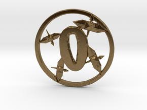 Paper Crane Tsuba in Raw Bronze